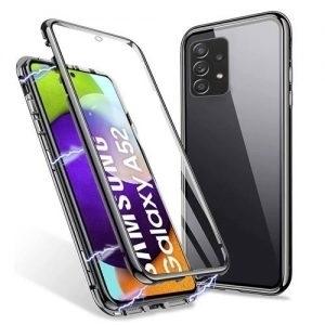 Husa 360 Magnetica Samsung Galaxy A52 Sticla Black