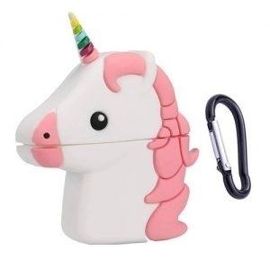 Husa casti wireless Airpods si inPods 12 unicorn Roz